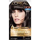 L'Oreal Paris Superior Preference Fade-Defying + Shine Permanent Hair Color, 4C Cool Dark Brown, Pack of 1, Hair Dye