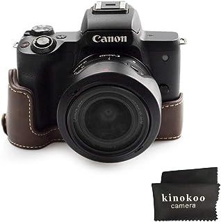 Café Cámara Réflex Digital Funda De Cuer Media montaje inferior para Canon EOS M50