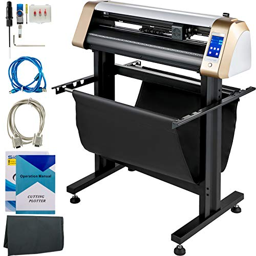 VEVOR Vinyl Cutter Machine, 720mm Cutting Plotter, Automatic Camera Contour Cutting 28 inch Plotter Printer with Touch Screen & Servo Motor Vinyl Cutting Machine Adjustable Force and Speed