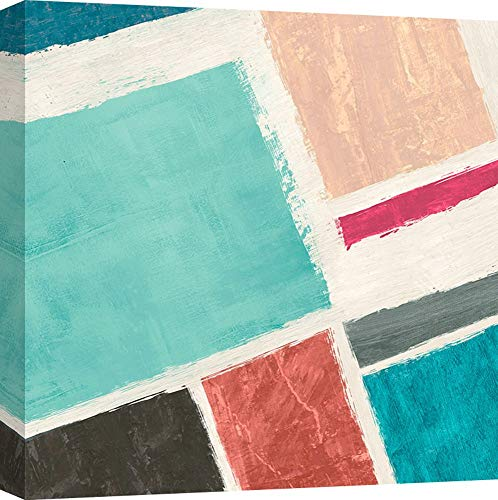 Art Print Cafe – Art Print op Canvas – Abstract schilderij – Anne Munson, Bel Air #2 70X70