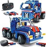 Top Race 2 en 1, Construye tu Propio Camión de Carga Stem, Vehículos de Construcción de Juguete Desarmables, Regalo para Niños de Entre 5 y 14 años de Edad