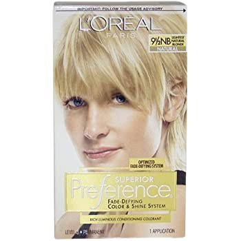Pref Haircol 9.5nb Size 1ct L'Oreal Preference Hair Color Lightest Natural Blonde #9.5nb