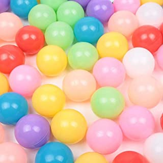 MCY 300pcs 6cm Colorful Ball Soft Plastic Ocean Ball for Baby Kid,Ocean Ball Non-Toxic Tasteless Baby Wave Ball Ocean Ball Pool Fence Indoor Color Ball Playground Toy Ball