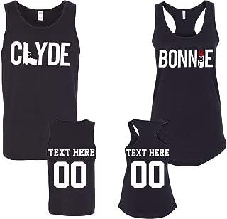 Clyde Bonnie Pattern Personlized Text Name Design Couple Hoodie Crewneck Sweatshirt Tshirt & Tank top