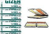 SweedZ Gizeh Lot de 5tubes de filtre à pointe verte, 5 x 200cm, avec étui...