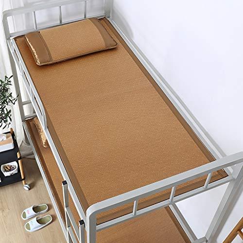 MBY Cama Estera De Bambú Carbonizado Enfriamiento Soltero Cama Plegable Paja Estera Estudiante Dormitorio Litera Habitación Rota (Color : B, Size : 200 * 100cm)