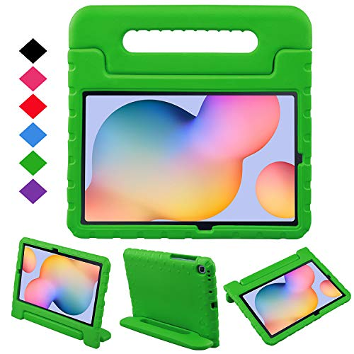 BelleStyle Kids Case for Samsung Galaxy Tab S6 Lite 10.4 Inch 2020 Model SM-P610/P615, Shockproof Lightweight Protective Case Kids Friendly Handle Stand Cover for Galaxy Tab S6 Lite 10.4' (Green)
