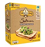 Sanissimo Salmas Oven Baked Crackers, 100% Whole Grain, Gluten Free, Non-GMO, 48 Individually Wrapped Snack Packs, 30.47 Ounce