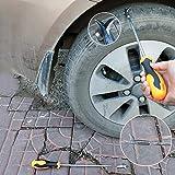 Gancho de limpieza de neumáticos, limpiador de neumáticos de coche ranurado de piedra rota removedor de gancho destornillador, herramienta de cuidado de neumáticos