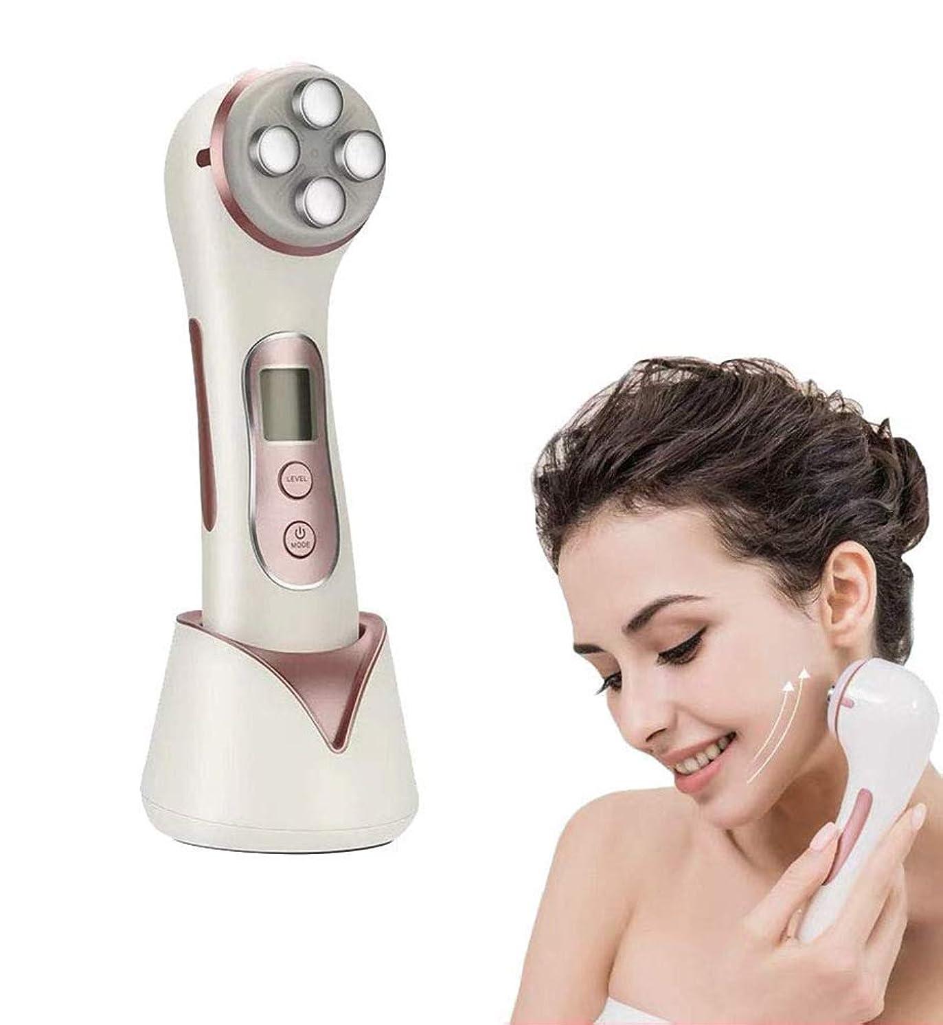 ラブ窒息させる先生1に付き5つの顔のマッサージャー - 高周波RF LED EMS美容機リフトアンチエイジング、肌の引き締め、フェイスクレンジング、にきび、しわの減少男性女性