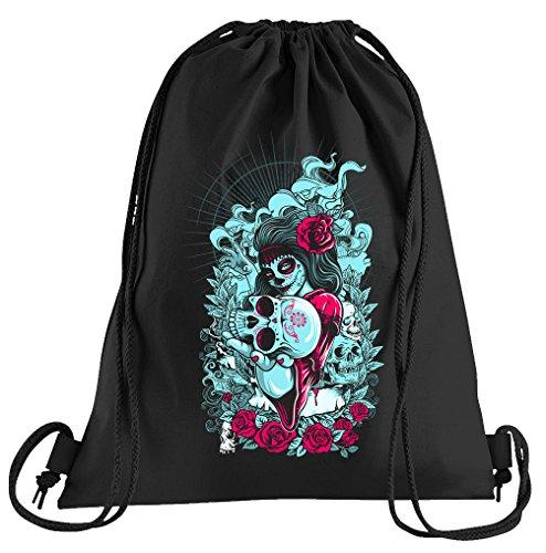 Camiseta People La Catrina Muerte Bolsa de deporte  Bolsa estampada  una bonita bolsa de deporte con cordones