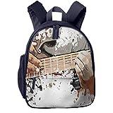 Sac à Dos pour Enfant Maternelle Rock Roll 853 Sacs D'école Bandoulière Réglable Unisexe Garçon Et Fille Cartable pour Quotidien Et Voyage