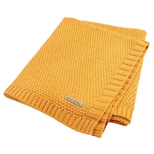 Tomwell Bebé Blanket Manta Saco de Dormir Unisex para Bebés Recién Nacidos Manta para Bebé Carrito Amarillo 100X80 CM