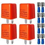 Gebildet 4pcs 12V 2 Pin Relé Intermitente Ajustable para Señales de Giro LED, Interruptor...
