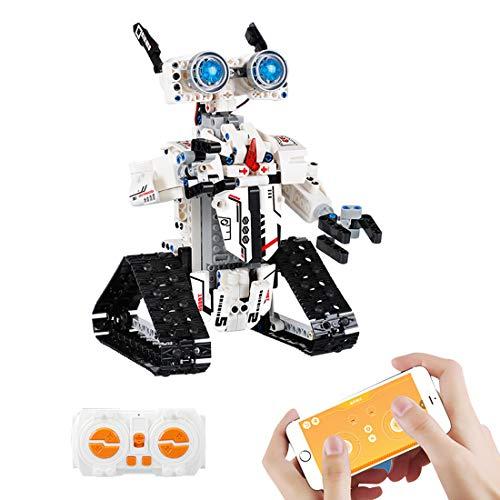 BGOOD Programmierbares Roboticset, 467 Klemmbausteine App-gesteuertes Modell mit programmierbaren und Bluetooth Funktion, Roboter Spielzeug Kompatibel mit Lego