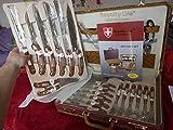 Juego de cuchillos de 25 piezas con funda de piel RL-K25LB