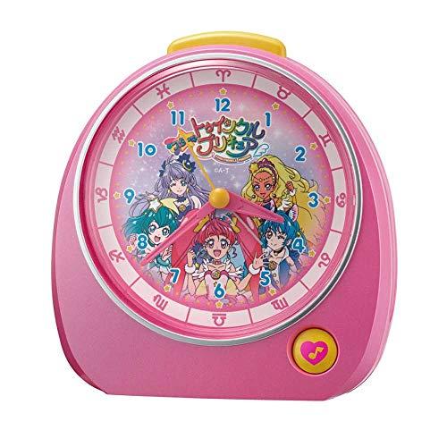 リズム(RHYTHM) 置き時計 ピンク 13.2x13.7x8.4cm 目覚まし時計 スター☆トゥインクル プリキュア 4ZM606AY13
