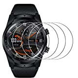 [4 Pack] Compatible Ticwatch Pro and Ticwatch Pro 4G/LTE Screen Protector Tempered Glass, Waterproof 9H Hardness Tempered Glass Screen Protective Film for Ticwatch Pro 4G