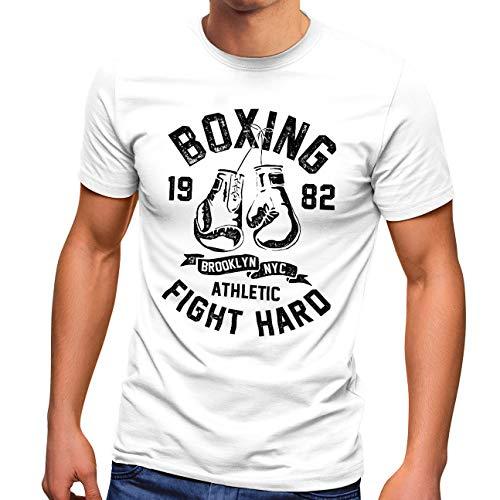 Neverless® Herren T-Shirt Boxen Boxing...