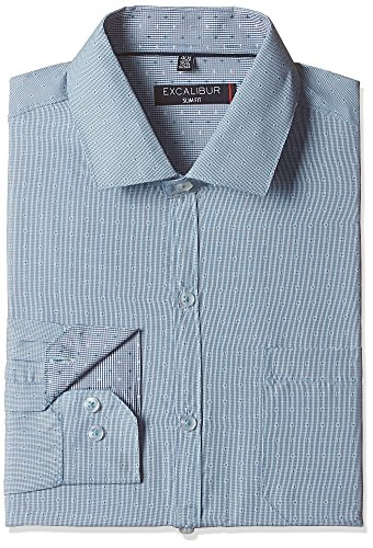Excalibur Men's Formal Shirt (8907542608317_400016539165_39_Blue)