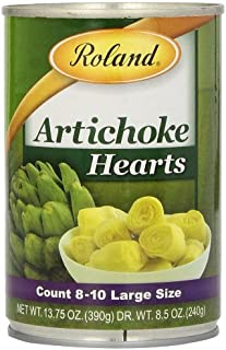 Roland Foods Whole Small Artichoke Hearts, 8-10 Count, 13.75-Ounce Can