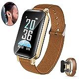 ICDOT Smart Bracelet with Earphone, Smart Watch Bluetooth Earbuds 2 in 1,Fitness Tracker