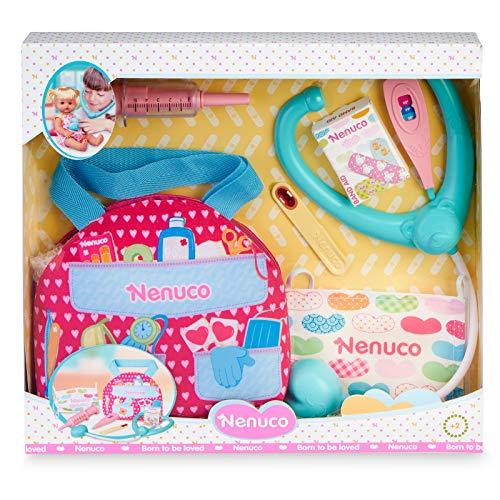 Nenuco-Botiquín de emergencias, Accesorios medicos para muñecos, Regalo Ideal para niñas y niños a Partir de 3 años(Famosa 700016295)