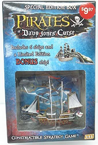 Pirates of Davy Jones Curse Constructible Strategy Game Special Edition Box with HMS Richards Bonus Ship by WizKids