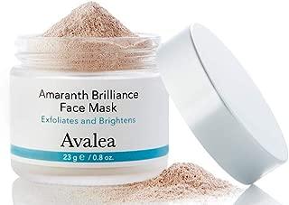 Avalea Amaranth Brilliance Face Mask + Pink Clay - Exfoliates & Brightens - Pore Refining, 23 g