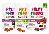 Fruit Forest Real Fruit Gummy Combo Pack Of 3, 100% Natural Snack, No Added Sugar, No Preservative, Mango Passion Fruit Raspberry And Pear Combo Pack (1 Each)