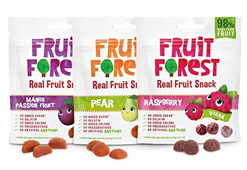Fruit Forest Real Fruit Gummy Combo Pack Of 3, 100% Natural...