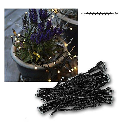 Best Season System Decor LED-Lichterkette 5 m, 50-L - Extra, Birnchen warm weiß, schwarzes Kabel outdoor 495-21