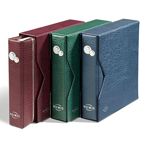 Leuchtturm 338787 Münzalbum NUMIS in blau mit Schutzkassette & 5 Hüllen für verschieden große Münzen | Für Münzen mit Ø 44, 34, 25, 17mm | blau