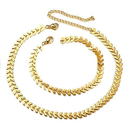 Pulsera Pulseras De Cadena De Flecha De Mujer De Moda Collares Ajustables De Color Oro Rosa Dorado para Joyería De Aniversariocollar De Acero Inoxidablepulsera De Oro