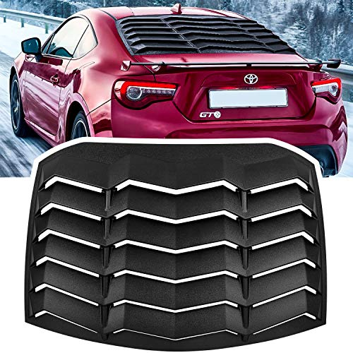 Rear Window Louver Fits for Subaru BRZ Scion FR-S Toyota GT86 2013 2014 2015 2016 2017 2018 2019 2020 in GT Lambo Style Fit All Weather ABS (Matte Black)