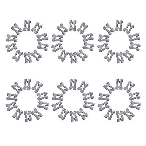 CROING 60 Stück Platzsparende Kleiderbügel Haken/Kleiderbügel-Verbinder Haken/Cascading Kleiderbügel Haken