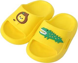 Nasogetch Kids Slide Sandals Boys Girls Beach Slippers Summer Bathroom Pool Shower Dinosaur Slip On Shoes