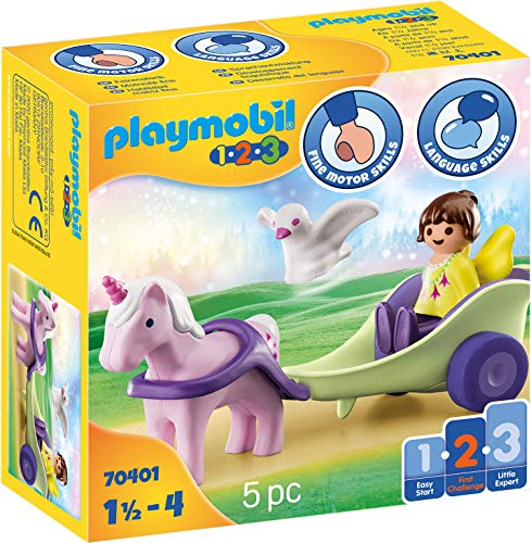 PLAYMOBIL 1.2.3 70401 Carruaje Unicornio