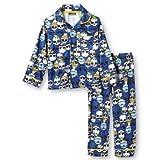 Joe Boxer Toddler Boys Blue Flannel Sleepwear Set Skull Pajamas PJs 3T