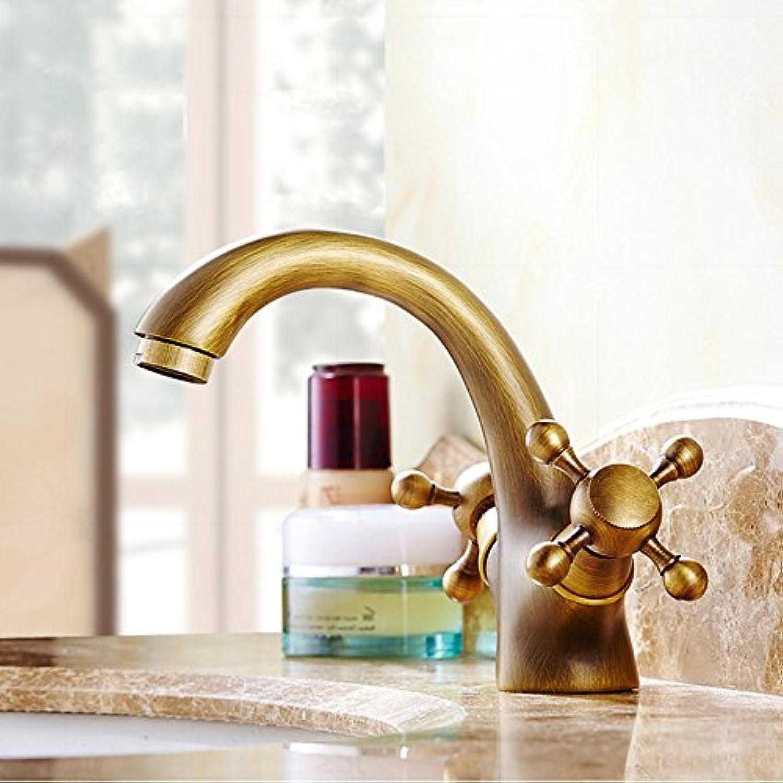 ETERNAL QUALITY Bad Waschbecken Wasserhahn Küche Waschbecken Wasserhahn Heie Und Kalte Vintage Kupfer Einlochmontage Waschbecken Wasserhahn Waschtischmischer BQ387ca