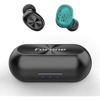 Auriculares inalámbricos verdaderos, Forone Audifonos inalambricos bluetooth 5.0 para correr/conducción/Yoga /gimnasio, Auriculares deportivos de control táctil con micrófono HD para IOS y Android, Audifonos estéreo con cancelación de ruido a prueba de sudor para hombres y mujeres