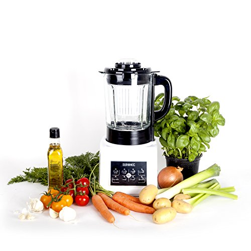 Duronic BL89 Automatic Multifunctional Smooth/Chunky Soup Maker Machine/Smoothie/Blender/Steamer/Boiler with 1.75L Glass Jug