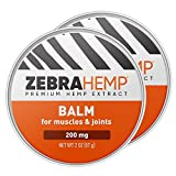ZEBRA HEMP - Fast Acting Balm for Natural Relief Salve for Joint, Muscle, Back Pain - 2 Oz (2 Pack)