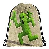 Cap socks Final Fantasy 3D Print Drawstring Backpack Rucksack Shoulder Bags Gym Bag For Adult 16.9'X14'