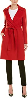 Cinzia Rocca Icons Womens Belted Wool-Blend Coat, 4, Red
