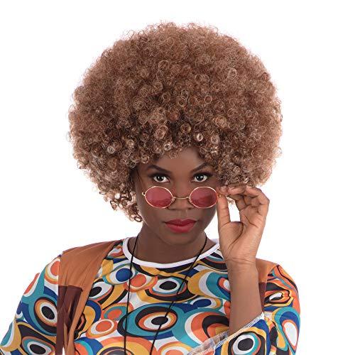 Bristol Novelty bw484 Beyonce Afro pruik bruin, één maat