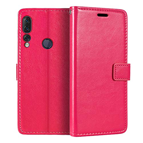 Lenovo Z5S Wallet Case, Premium PU Leather Magnetic Flip Case Cover with Card Holder and Kickstand for Lenovo Z5S