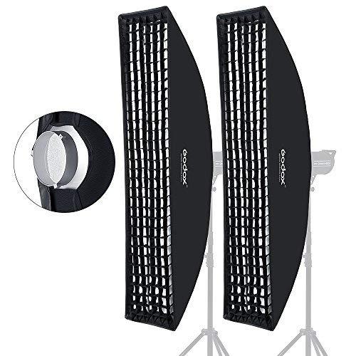 Godox - Diffusore Softbox rettangolare griglia a nido d'ape, dimensioni 35x 160cm, adatto per flash Bowens da studio
