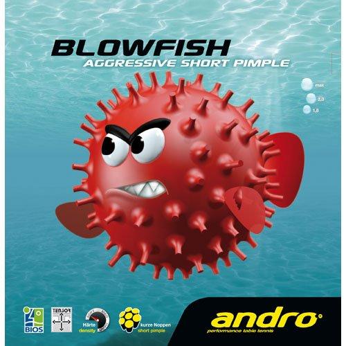 andro Belag Blowfish (Kurznoppe), 2,0 mm, rot