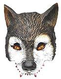 VENTURA TRADING AM7 Lobo Mascarilla Hombre-Lobo Novedad Disfraz Partido Mascarilla máscara de Perro Máscara de Hombre Lobo